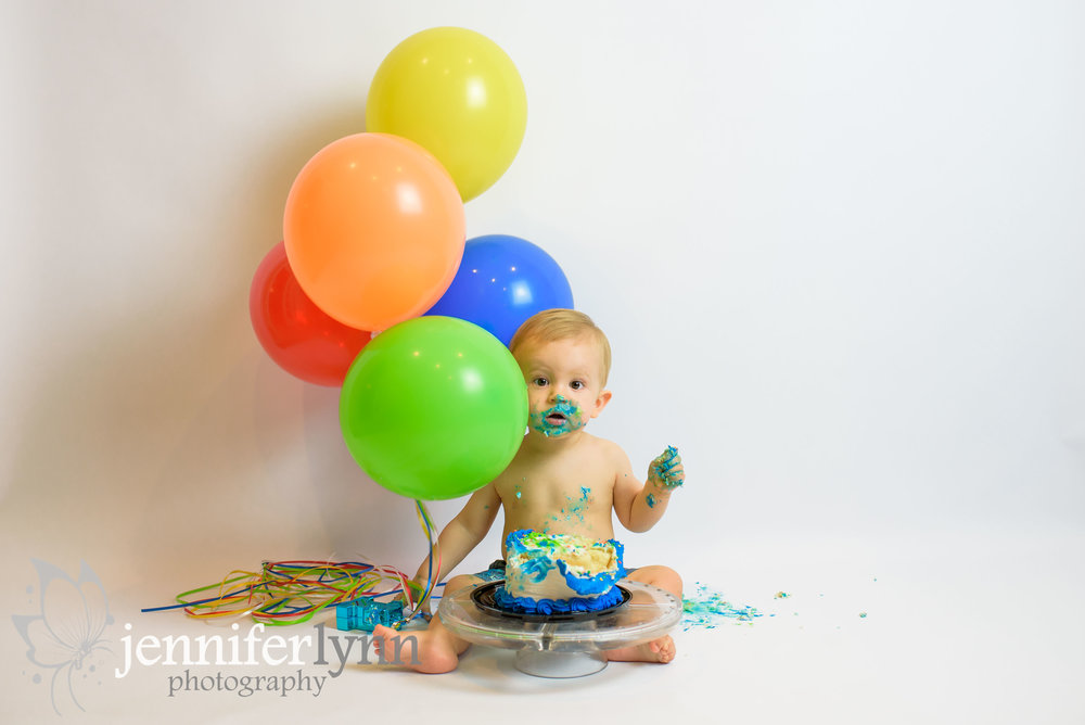 Baby Boy Balloons Cake Smash Birthday