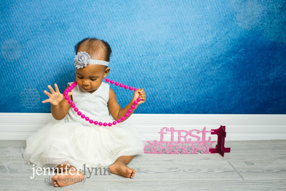 Baby Girl First Birthday Pearls