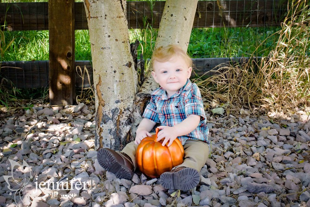 Baby Boy Outdoor Sitting Fall