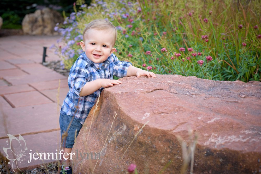 Baby Boy Outdoor Birthday Photos