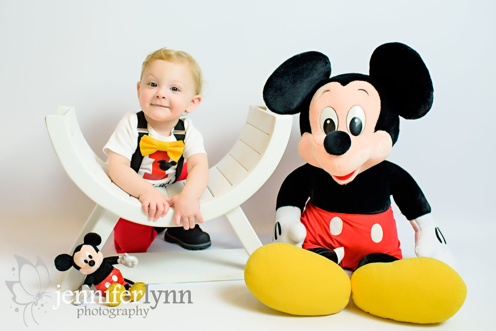 Baby Boy Birthday Mickey Studio