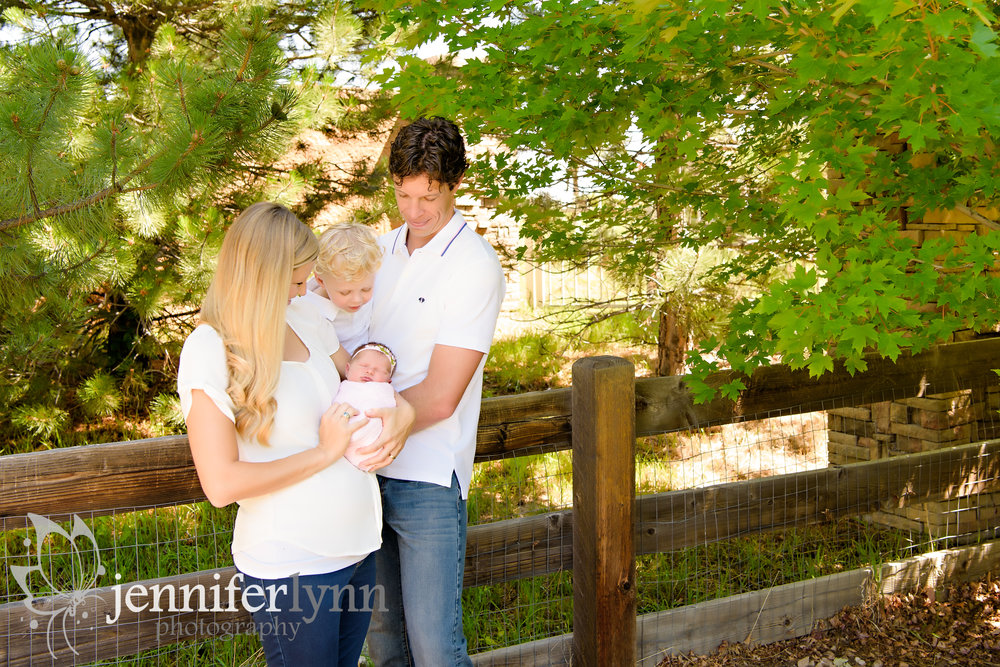 Outdoor Newborn Family Photo
