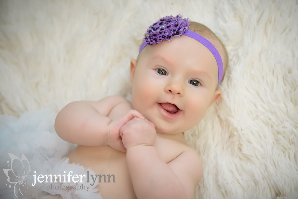 Baby Girl on Back Purple Headband