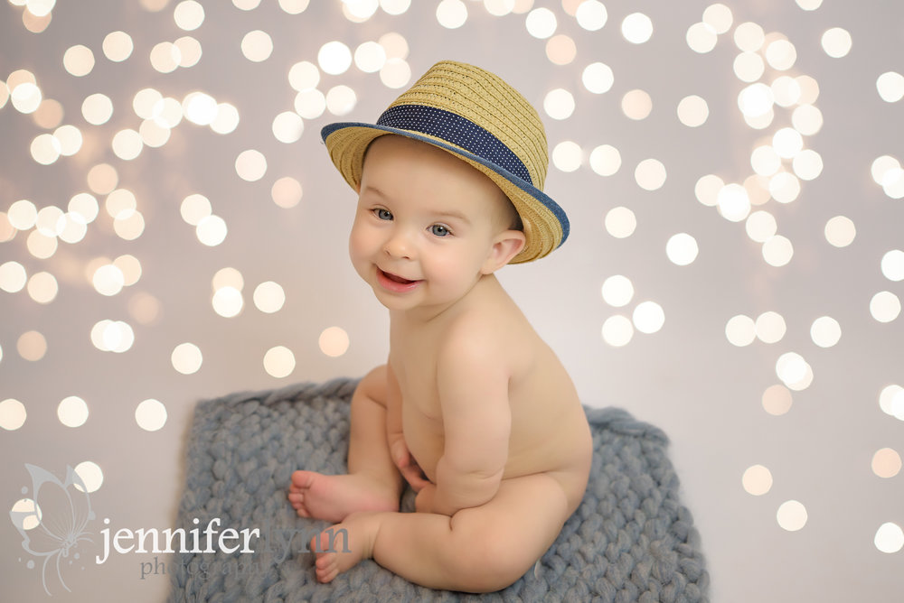 Baby Boy Hat Sitting Lights