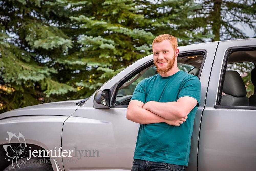 Senior Boy Truck Outdoors