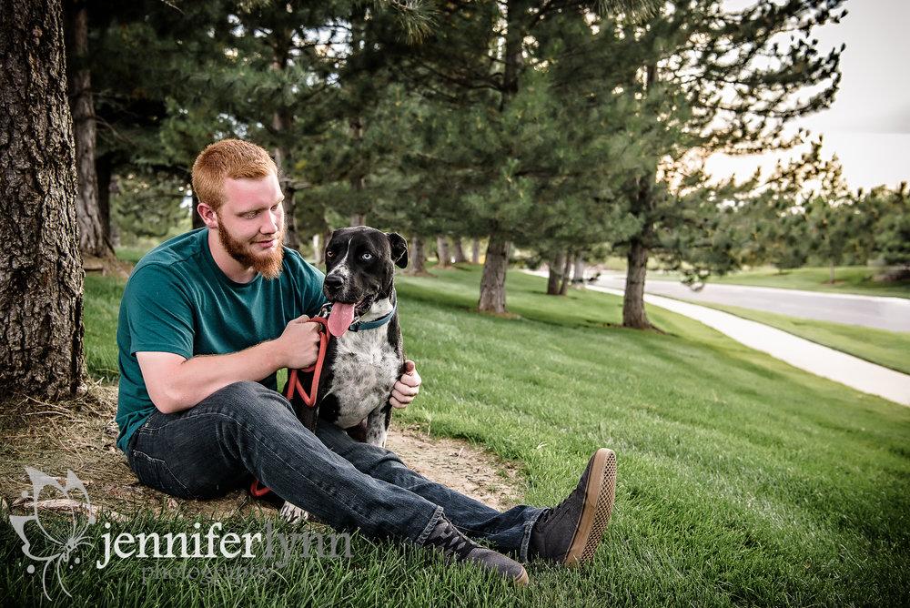 Senior Boy and His Dog