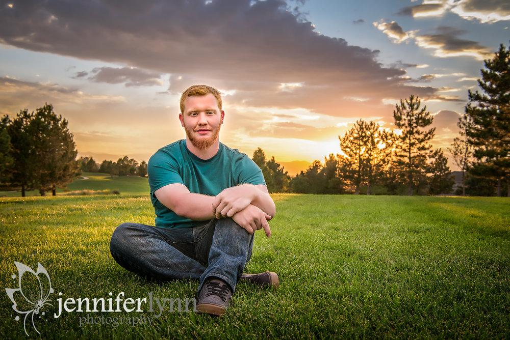 Senior Boy Sunset On Hill