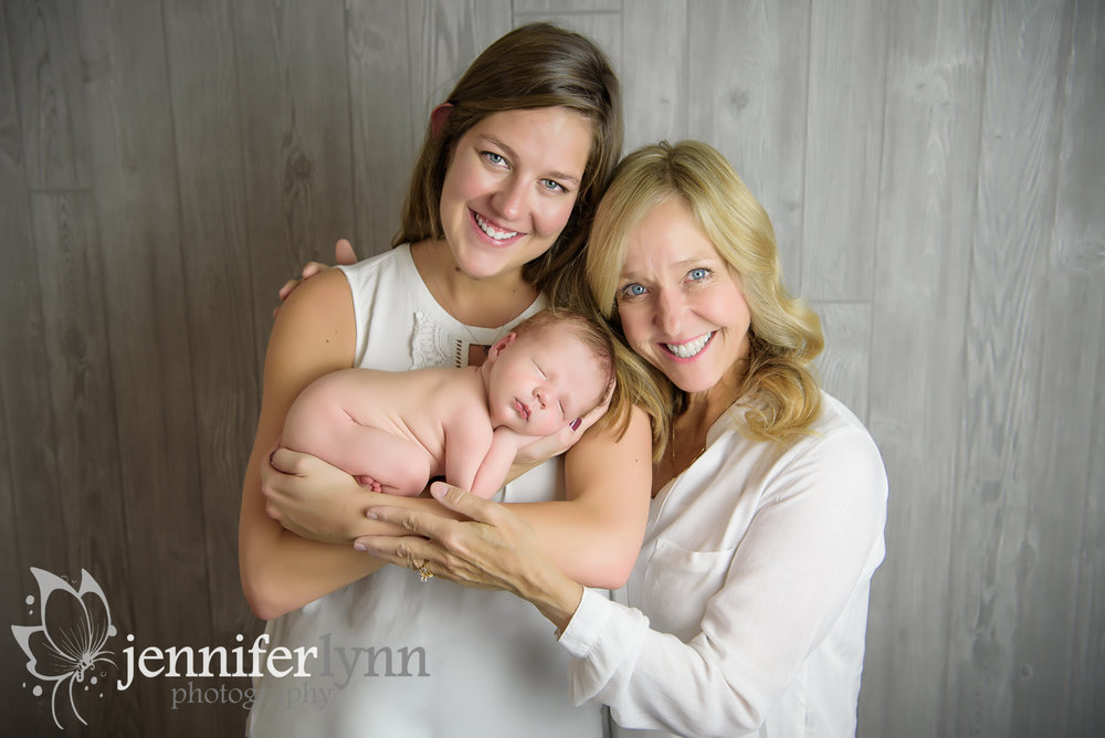Newborn Boy with Mom and Grandma