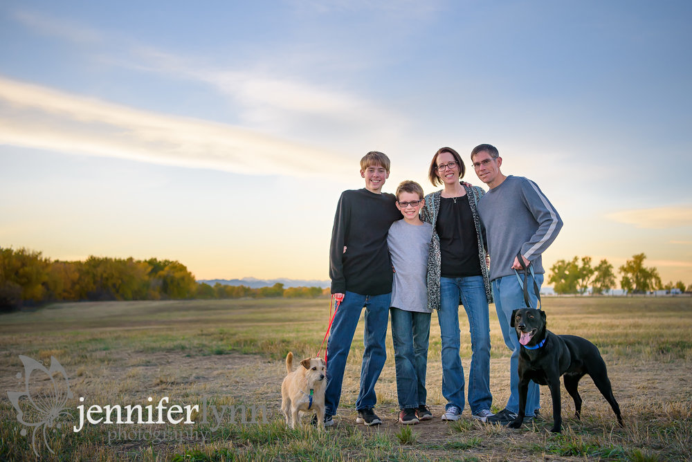 Gorgeous Family Sunset Photo