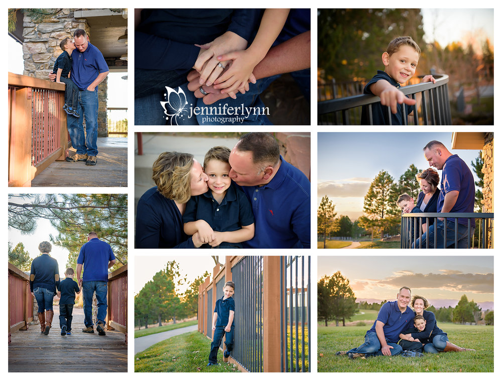 Family Session Sunset Mountains