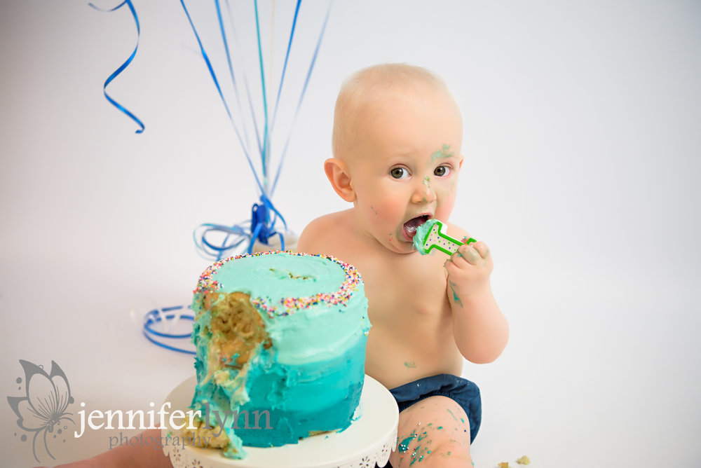 Boy Cake Smash Blue