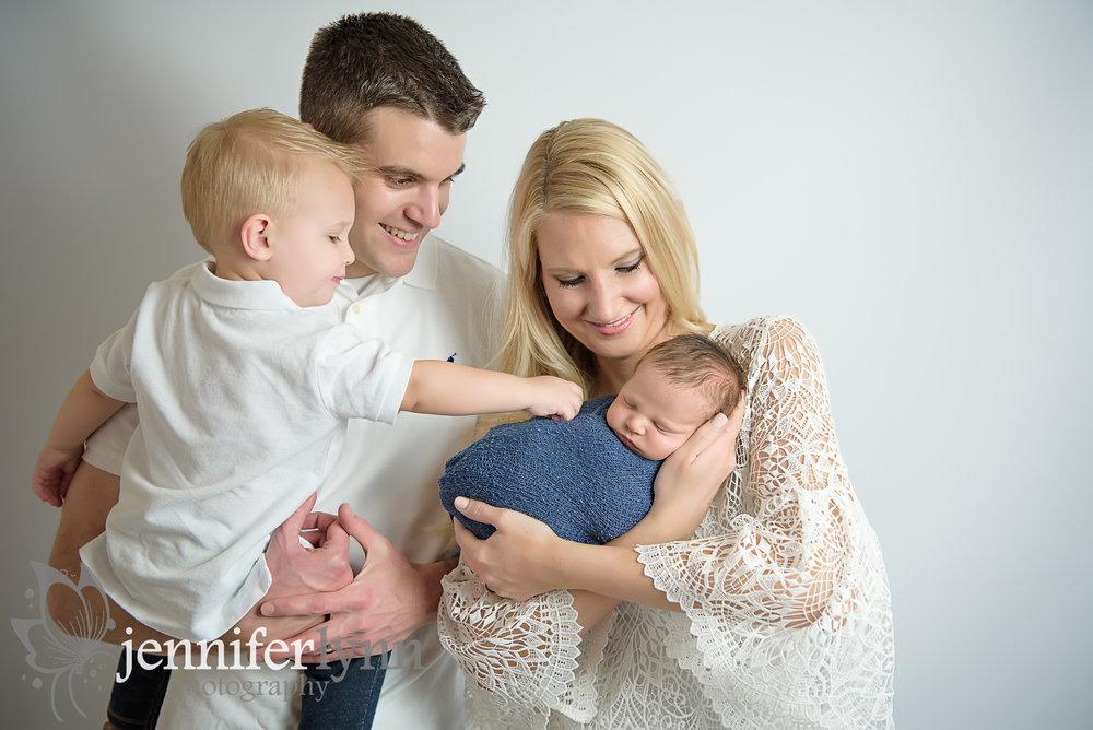 Family of Four Newborn Boy Photo
