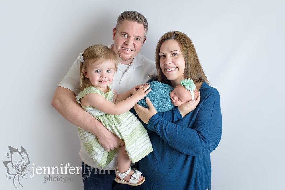Family of Four Newborn Girl