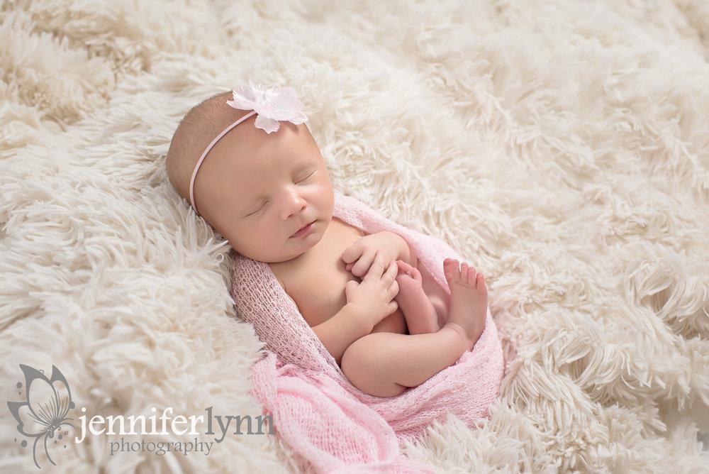 Newborn Girl Pink Wrap Soft Fur