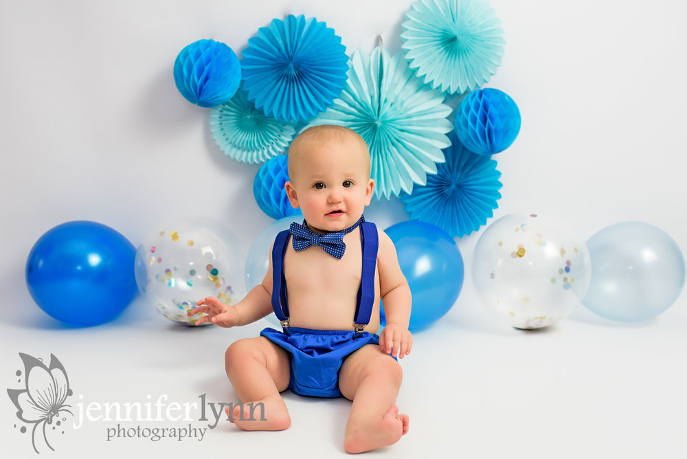 Happy Baby Boy in Blue