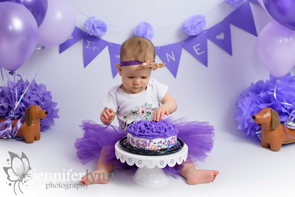 Baby Girl Purple Cake Smash