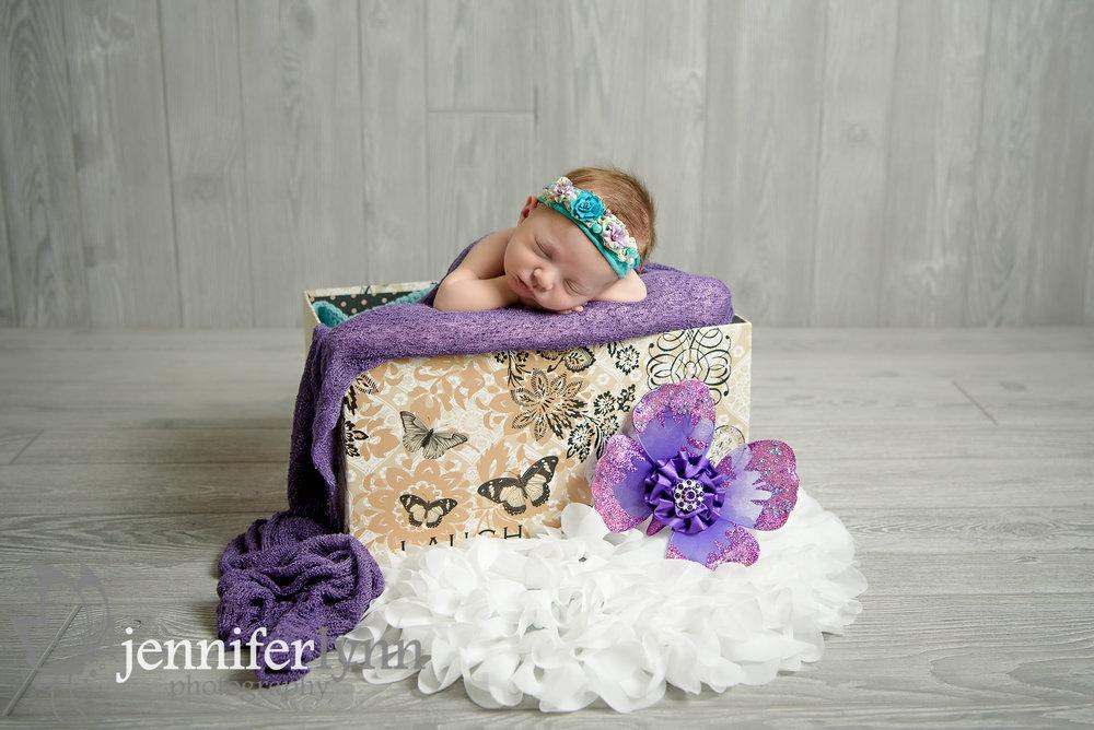 Newborn Girl Butterfly Crate Purple