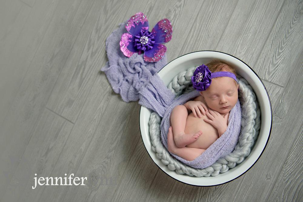 Newborn Girl Purple Butterfly Antique Bowl