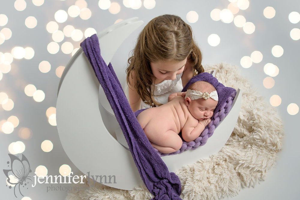 Newborn Sisters Moon Purple