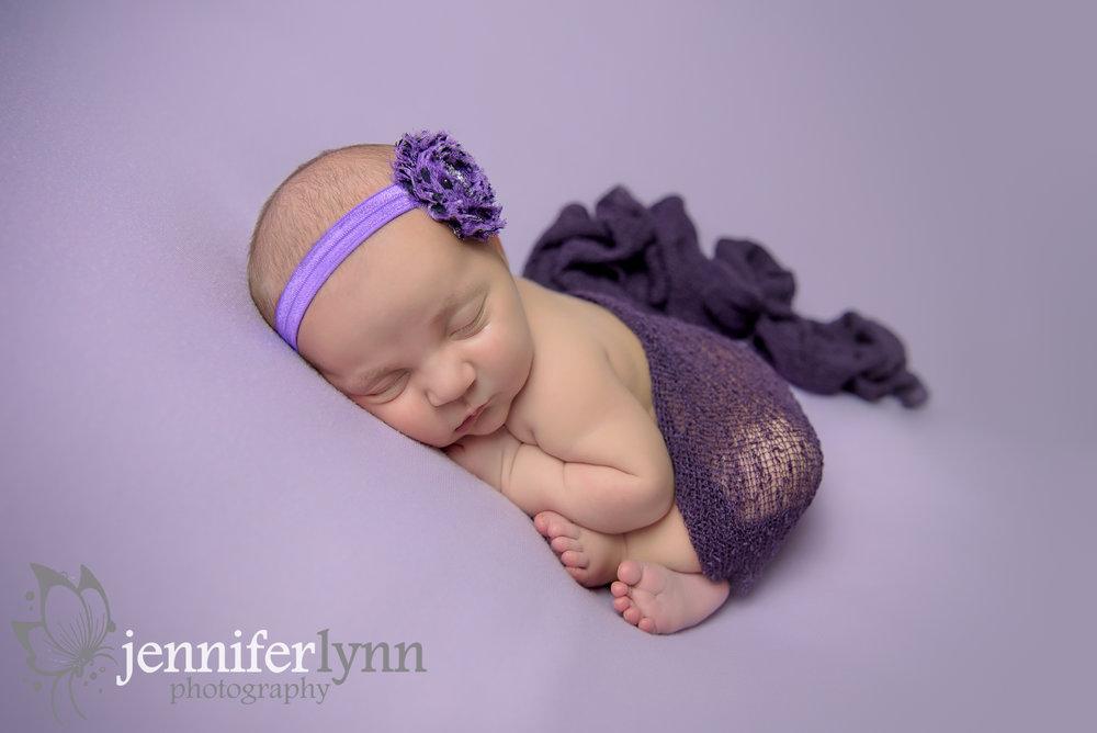 Newborn Girl Purple Blanket