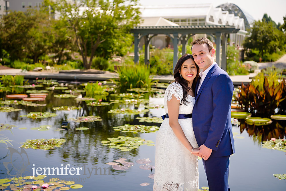 Maternity Couple Lily Lake Garden