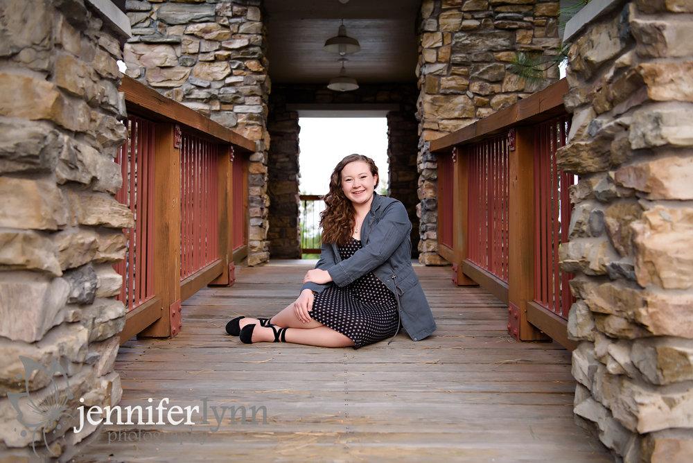 Senior Girl Rustic Outdoor Bridge