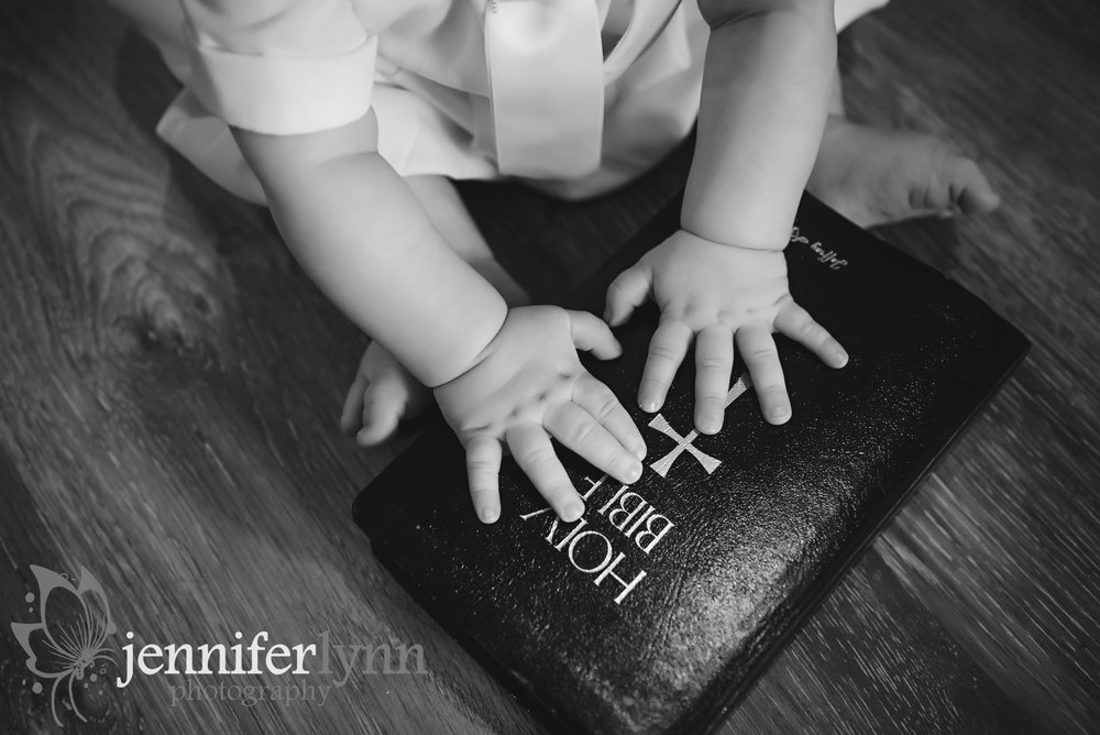 Baby Hands on Family Bible