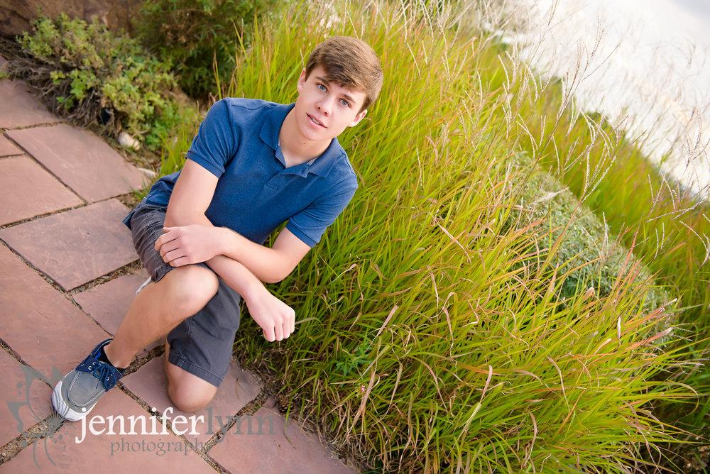 Senior Boy Summer Grasses Green Outdoors