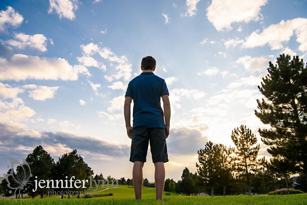Senior Boy Colorado Sunset Clouds