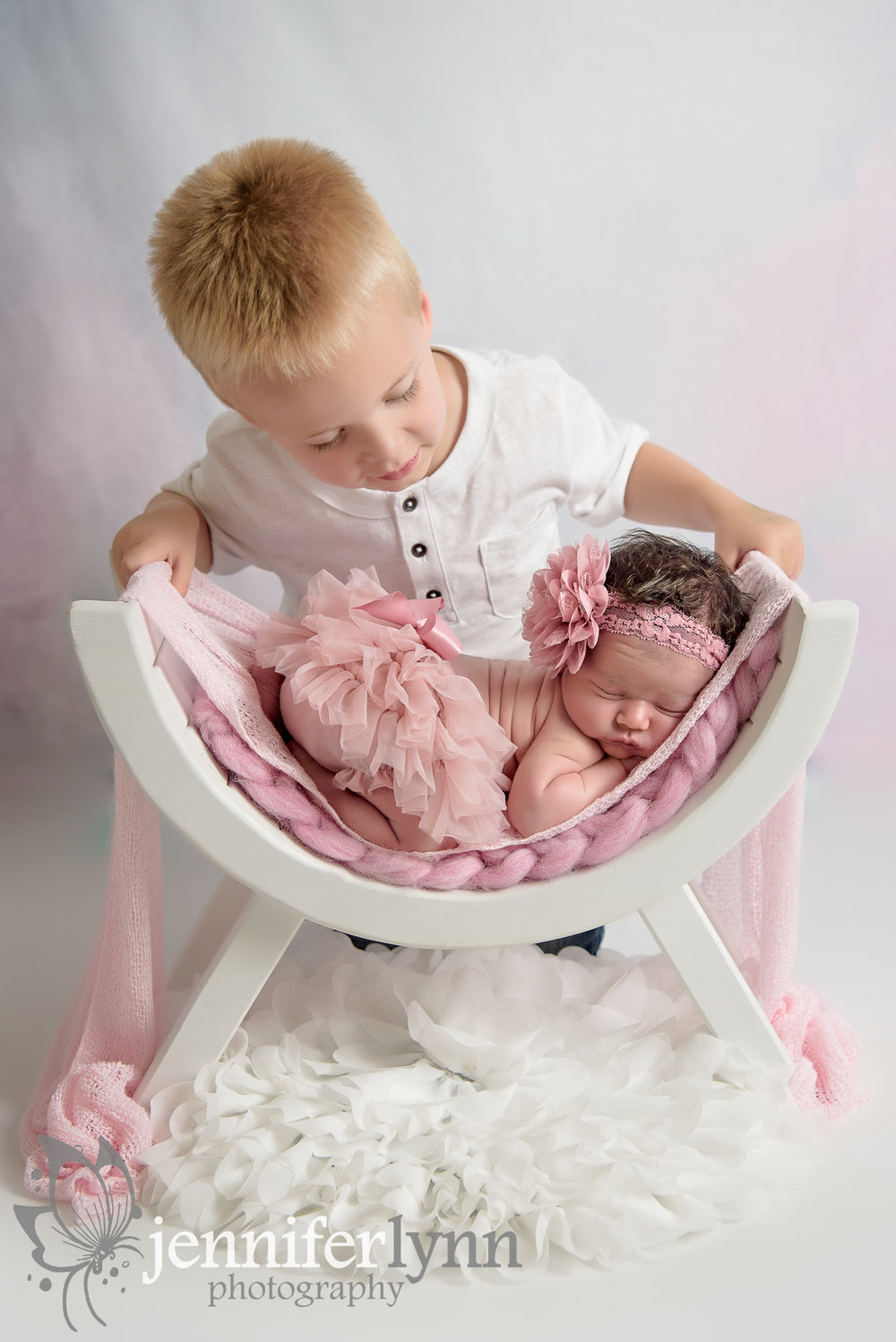 Sibling Newborn Photo Brother Sister