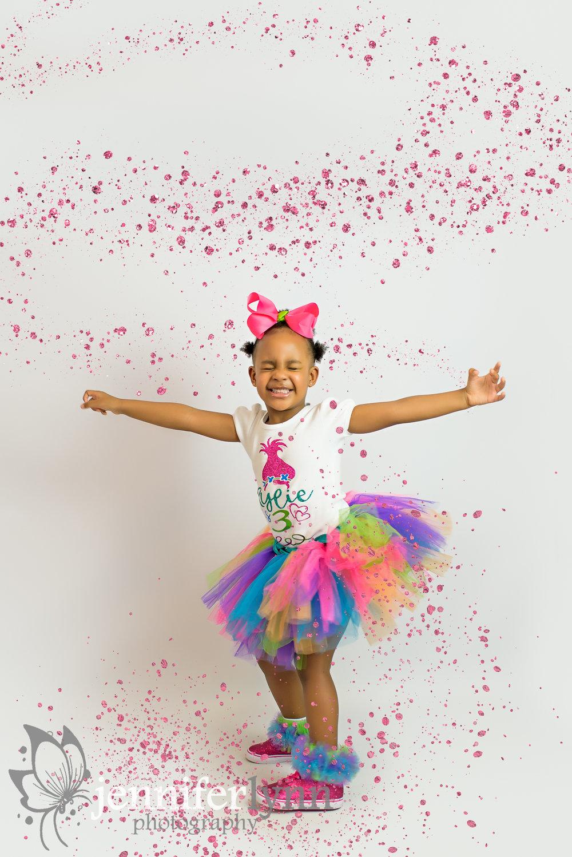 Rainbow Tutu Pink Glitter Twirl