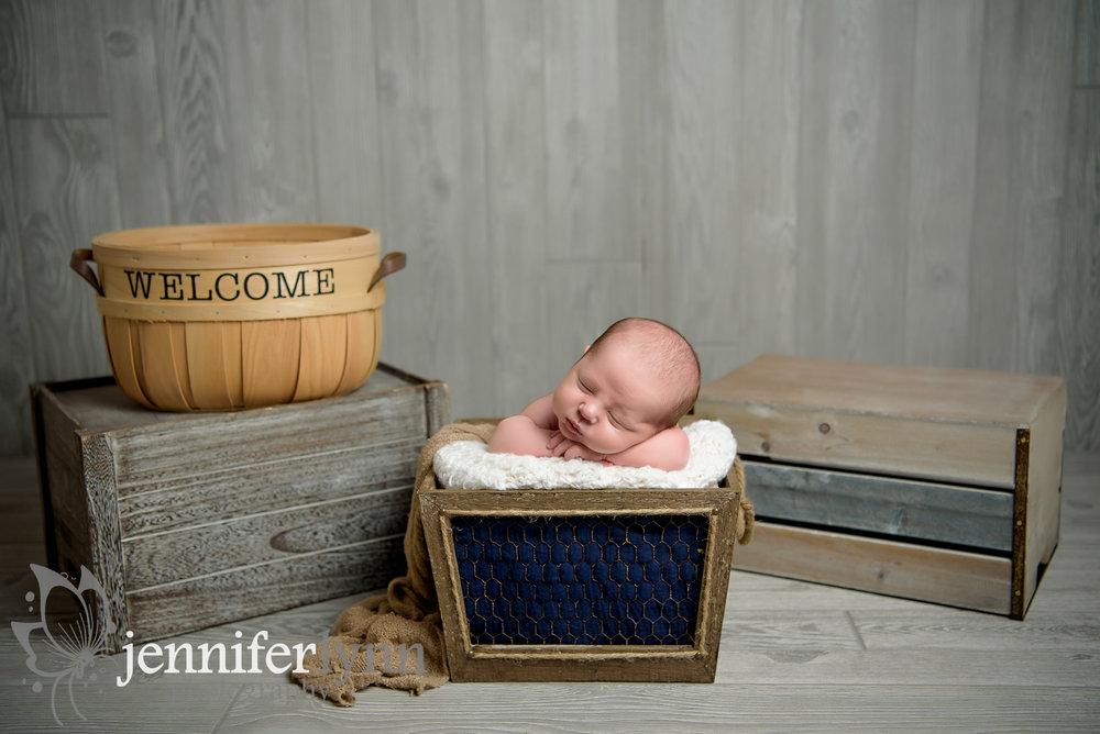 Newborn Boy Basket with Crates