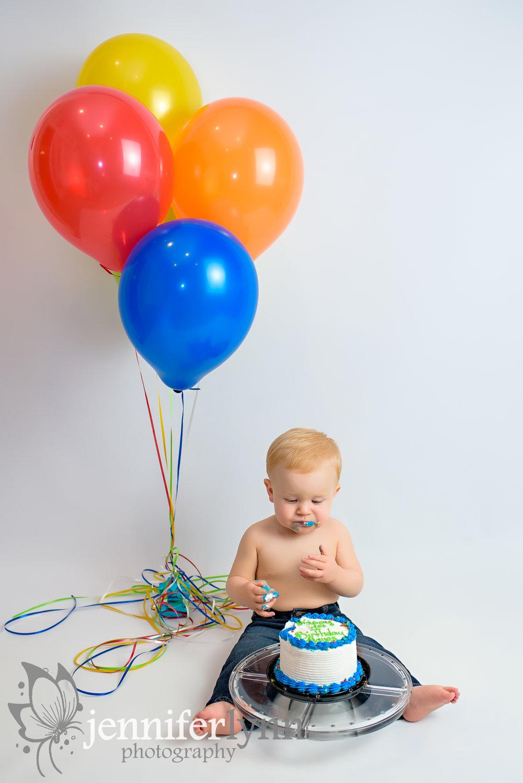 Baby Boy Cake Smash Balloons