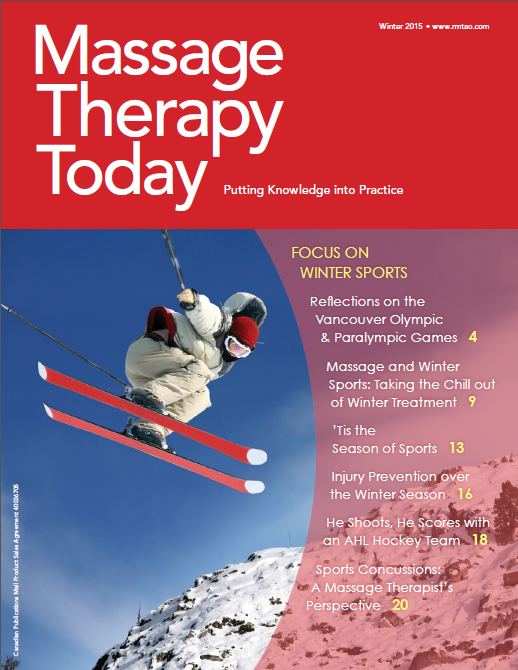 Massage Therapy Today (Winter 2015) - Assessment and Treatment of Sports Concussions