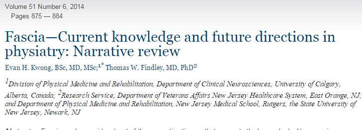 Fascia—Current knowledge and future directions in physiatry: Narrative review