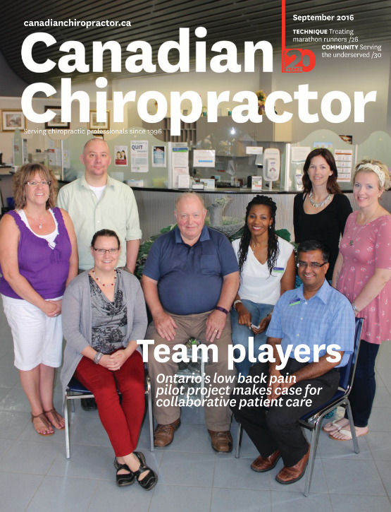 Canadian Chiropractor (September 2016)  Treatment and Assessment of Marathon Runners