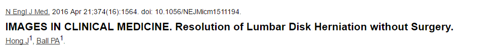 Resolution of Lumbar Disk Herniation without Surgery