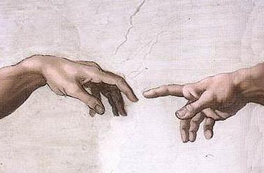 Michelangelo - The Creation of Adam (The Hands) (c. 1512)