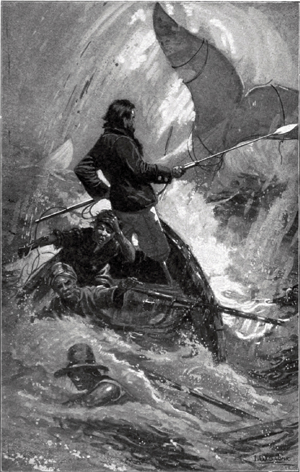 Captain Ahab in his final chase with Moby Dick