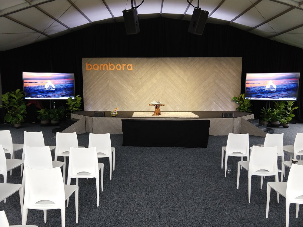 OPAV providing AV, Lighting, Scenic, and Technical Direction for Bombora's first user conference.