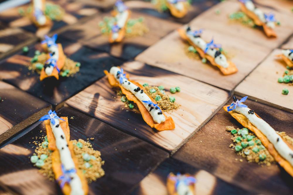 sweet potato chip. edamame hummus. caviar.