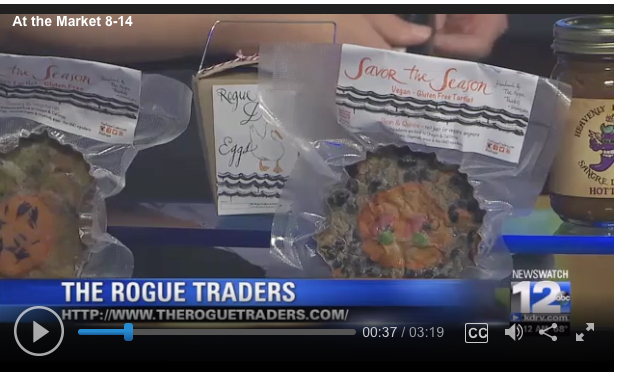 August 2017 Newswatch 12:   A nice little spot on the local news in Southern Oregon about The Rogue Traders, the tartlets, our pastured Rogue duck eggs and the Rogue Valley Growers Market.