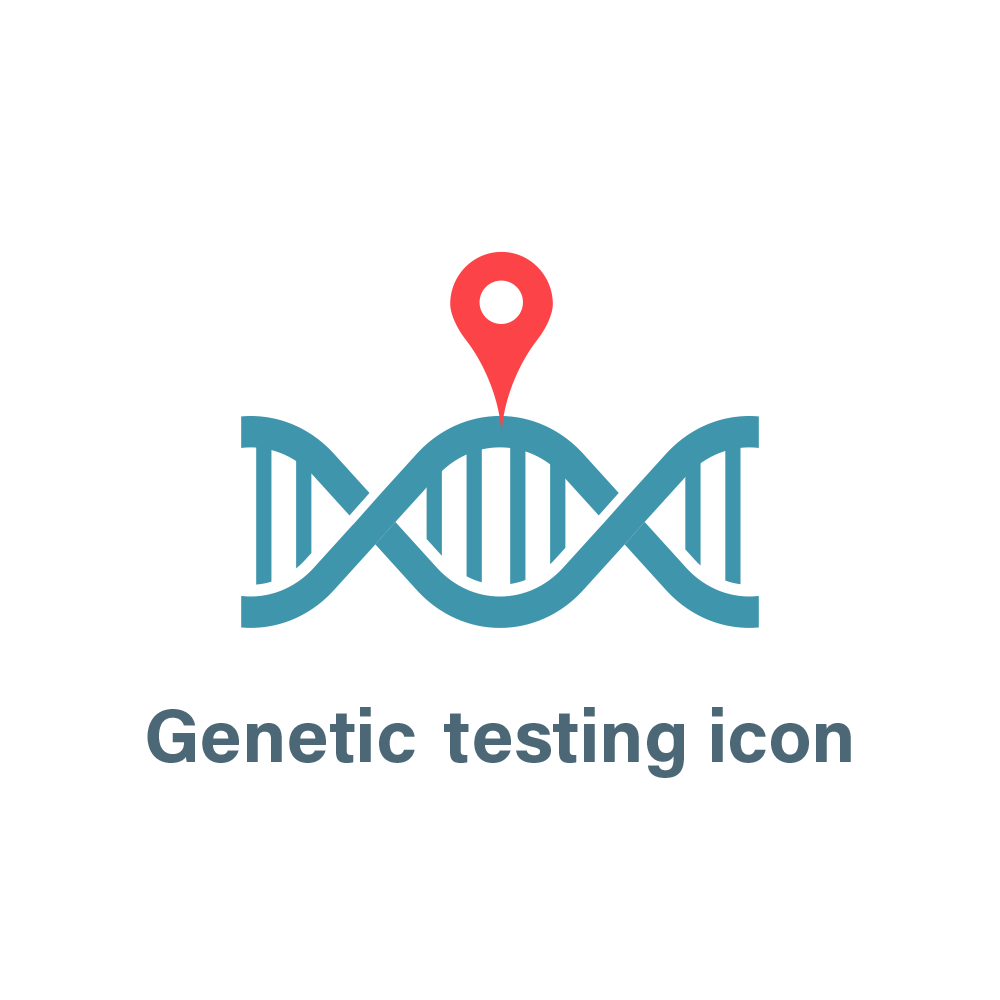 Genetic testing icon