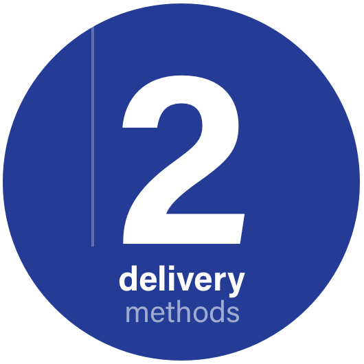 2 delivery methods