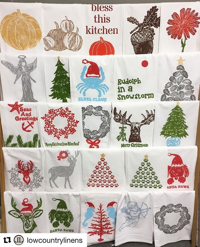 Time to get your @lowcountrylinens holiday orders in!!! Great new designs! #holiday #holidaytowels #christmaslinens #handcrafted #womenownedbusiness #madeinsc