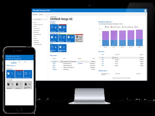 Microsoft Dynamics NAV fungerer på alle typer enheter med tilpasset brukergrensesitt