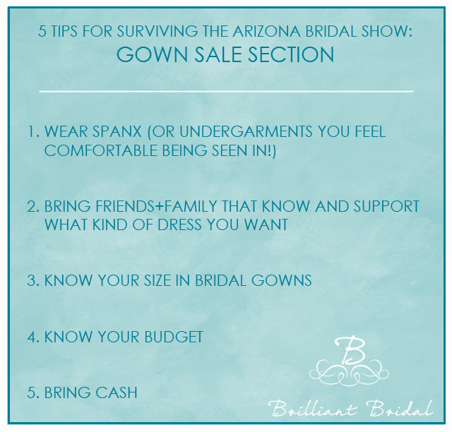 Arizona Bridal Show tips