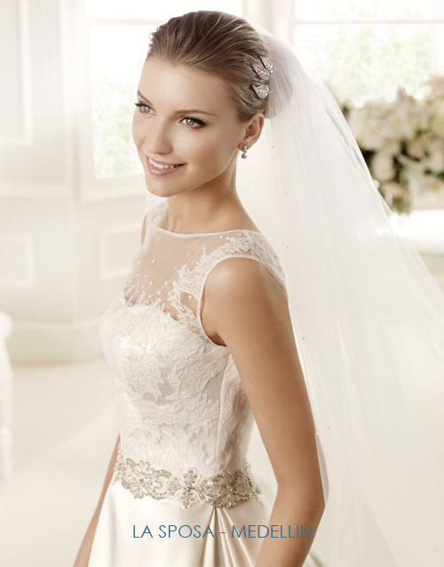 illusion neckline wedding gowns la sposa medellin