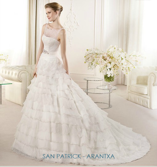 illusion neckline wedding gowns san patrick arrantxa