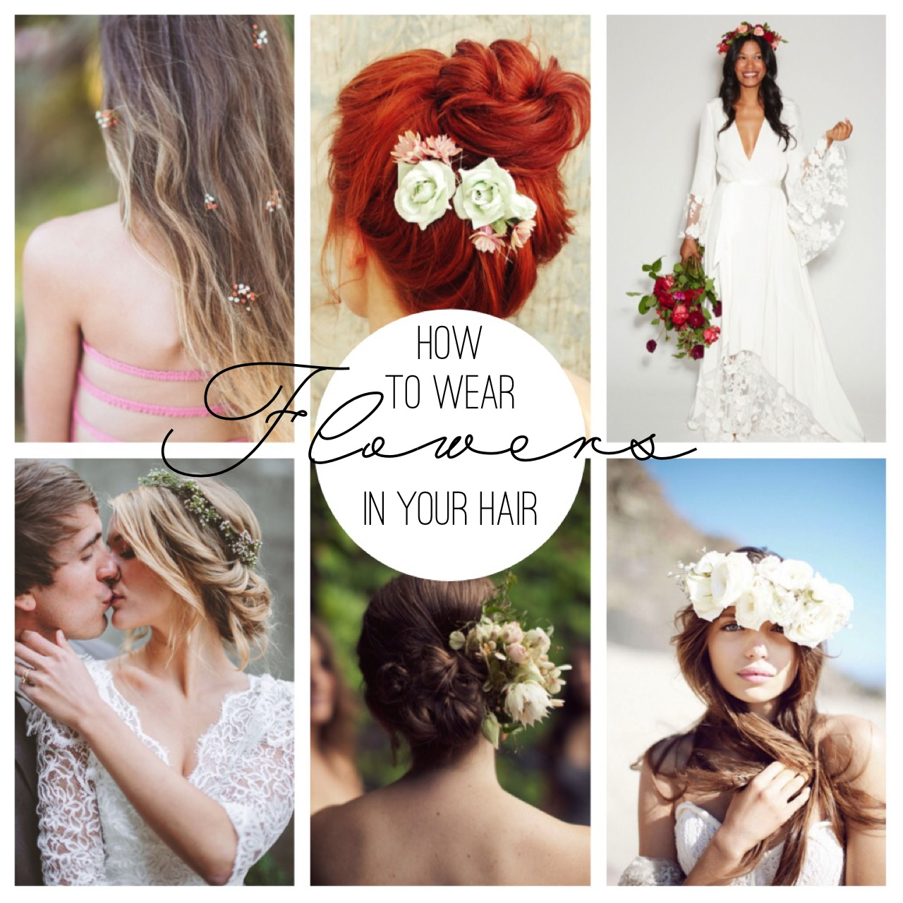 how to wear flowers in your hair for your wedding